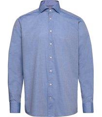 lustre dotted dobby shirt - soft overhemd business blauw eton