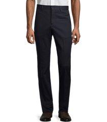 sandro men's h19moon flat-front stretch pants - navy blue - size 38