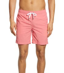 men's onia charles swim trunks, size xx-large - pink
