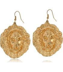 brinco le diamond leão africano dourado