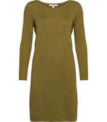 dresses flat knitted kort klänning grön esprit casual