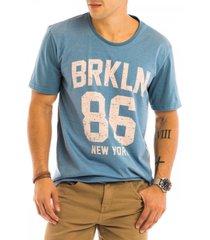 camiseta masculina brkln 86 estampa frontal - area verde - multicolorido - masculino - dafiti