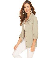 chaqueta adulto femenino caqui marketing  personal