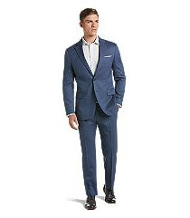 1905 collection slim fit herringbone men's suit - big & tall by jos. a. bank