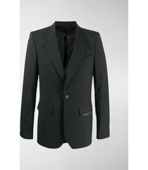 givenchy label patch fitted blazer