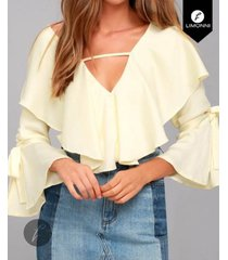 *blusas para mujer limonni bennett li1190 campesinas