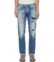 'razor' 8 years selvedge denim slim distressed jeans