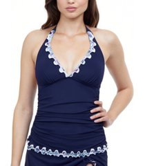 profile by gottex snake charm halter tankini top women's swimsuit