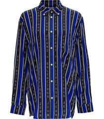 balenciaga striped viscose l / s large shirt