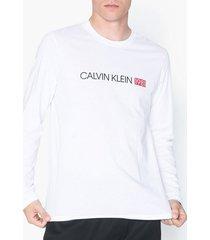 calvin klein underwear l/s crew neck tröjor white