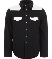 calvin klein jeans color block western shirt