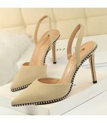 sandalias de mujer sandalias de tiras de ante tacones altos tacones