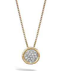 women's john hardy bamboo diamond pendant necklace