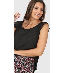 blusa negra vindaloo lino