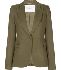 adam lippes fitted blazer - green