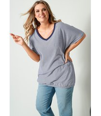 shirt janet & joyce marine::wit