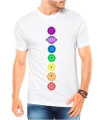 camiseta criativa urbana 7 chakras esotérica equilíbrio masculina