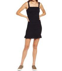bp. smocked tank dress, size large in black at nordstrom