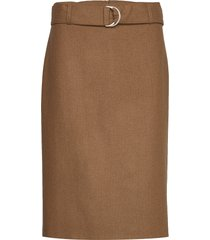 skirt short woven fa knälång kjol brun gerry weber edition