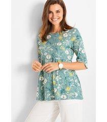 duurzaam shirt van biologisch katoen met print