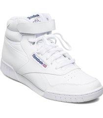 ex-o-fit hi höga sneakers vit reebok classics