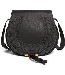 chloe 'marcie - medium' leather crossbody bag - black