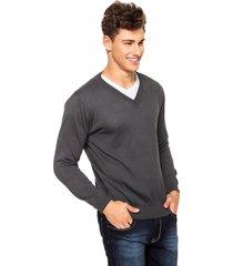 suéter officina do tricô grafite