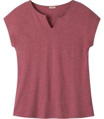 hennep-shirt met tuniekhals, wilde roos 44/46