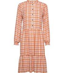 bolette print dress knälång klänning orange modström