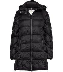 jacket gevoerde lange jas zwart signal