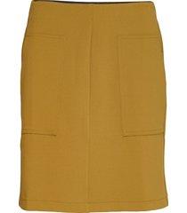 amigo short skirt knälång kjol gul soft rebels