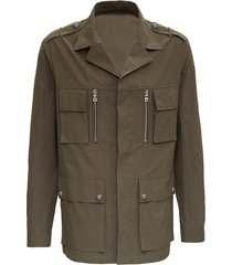 balmain military green cotton jacket