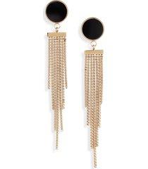 women's knotty deco chain tiered drop earrings