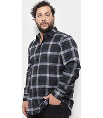camisa xadrez delkor plus size masculina