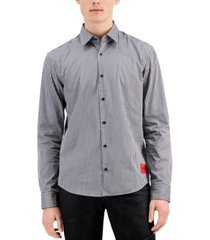 hugo hugo boss men's ermo slim-fit vertical stripe shirt