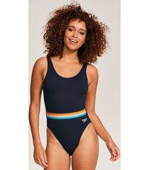 belted deep u-back 1 piece one-piece swimsuit