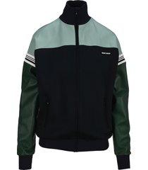 miu miu lux jersey intarsia blouson jacket
