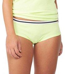 calcinha boy short limão flúor capricho - 560.022 capricho lingerie boy short verde