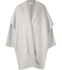 seya. hooded knit cape - grey