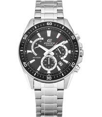 reloj casio edifice efr-552d-1a lujoso para hombre negro/plata