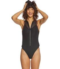 beyond yoga women's soleil bodysuit - black x-small spandex moisture wicking