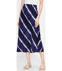 loft tie dye striped midi skirt