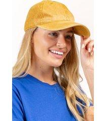 classic baseball hat - mustard