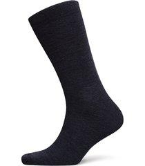 twin-face plain-socklet c/wool underwear socks regular socks blå egtved