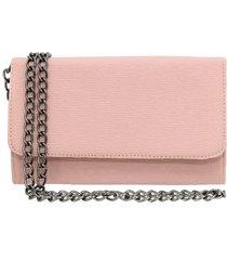 bolsa clutch ravy store pequena alça de corrente rosa