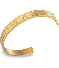 eye candy la women's luxe 18k goldplated titanium roman cuff bracelet