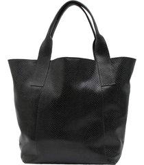 bolsa couro griffazzi shopping bag preta