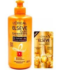 kit óleo capilar + creme l'oréal paris elseve óleo extraordinário