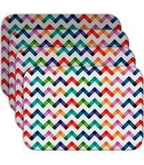 jogo americano - love decor  colorful abstract kit com 4 peças