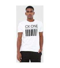 camiseta calvin klein underwear código de barras branca